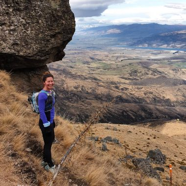 Tanya trail running in Cromwell